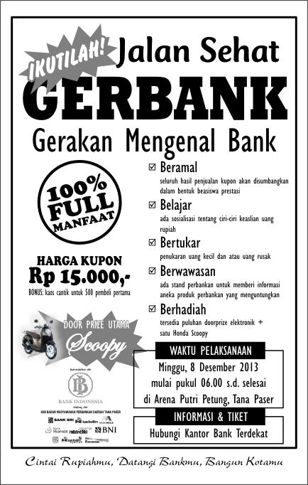 Selebaran Jalan Santai Gerbank Tana Paser